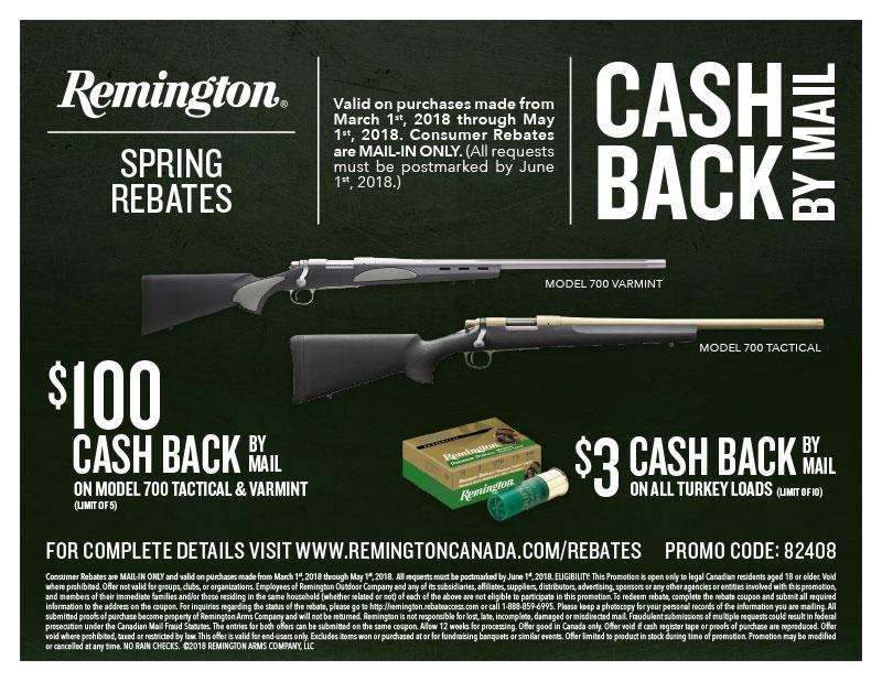 Remington Cash Back By Mail