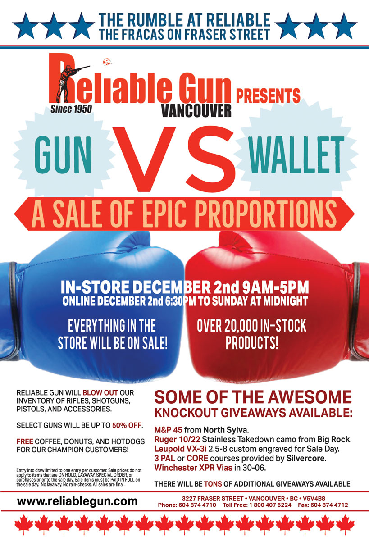 Gun vs. Wallet. A sale of epic proportions