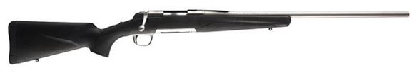 """Picture of Browning X-Bolt Stainless Stalker Bolt Action Rifle - 300 Win Mag, 26"""", Sporter Contour, Matte Stainless, Dura-Touch Armor Coating Composite Stock, 3rds, Adjustable Feather Trigger"""