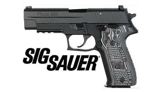 "Picture of SIG SAUER P226 Extreme DA/SA Semi-Auto Pistol - 9mm, 4.4"", Nitron, Black Hard Anodized, Hogue Custom G10 Grips"