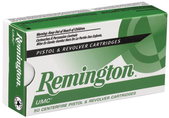 Picture of Remington UMC Pistol & Revolver Handgun Ammo - 40 S&W, 180Gr, MC, 50rds Box