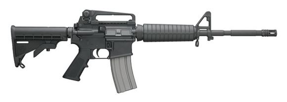 """Picture of Bushmaster XM-15 M4-A3 Type Patrolman's Semi-Auto Carbine - 5.56mm NATO/223 Rem, 16"""", Black, 4150 Chrome-Molly Steel w/Chrome-Lined Bore/Chamber, Black 6-Position Collapsible Stock, 5/30rds, A2 Flash Hider"""