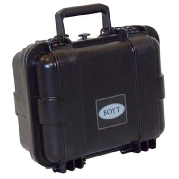 """Picture of Boyt Gun Cases, Hard Gun Cases - H-11 Single Handgun/Ammo Case, 13"""" x 11"""" x 6"""", Black"""