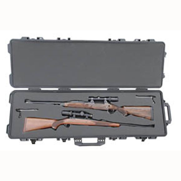 "Picture of Boyt Gun Cases, Hard Gun Cases - H-51 Double Long-Gun Case, 53.5"" x 17.25"" x 7"", Black"