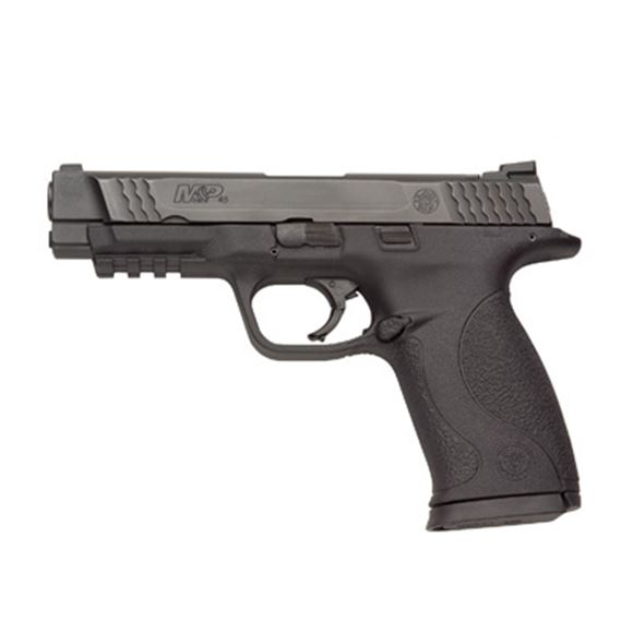 "Picture of Smith & Wesson (S&W) M&P45 Striker Fire Action Semi-Auto Pistol - 45 ACP, 4-1/2"", Black 68HRc, Zytel Polymer Palmswell Grip, 2x10rds, Steel Ramp Dovetail Mount Front & Steel Novak Lo-Mount Carry Rear Sights"