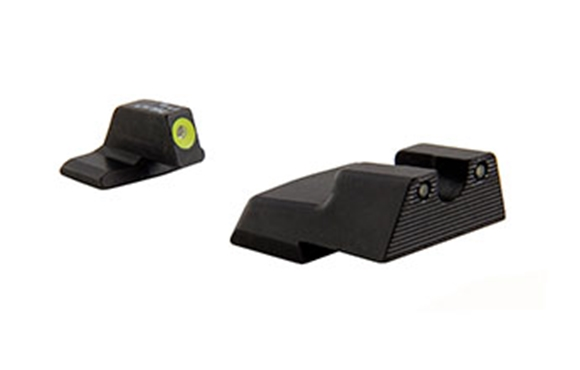 Picture of Trijicon Iron Sights, Trijicon HD Night Sights - H&K, HK111Y, H&K 45 HD Night Sight Set, Yellow Front Outline, Fits H&K 45/45 Tactical Models