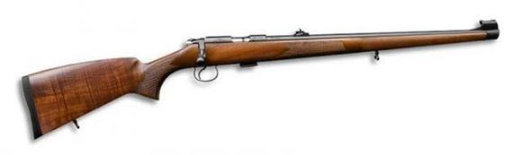 "Picture of CZ 455 FS Rimfire Bolt Action Rifle - 22 LR, 20-1/2"", Cold Hammer Forged, Blued, Turkish Walnut Stock, 5rds, Adjustable Sights, Adjustable Trigger"