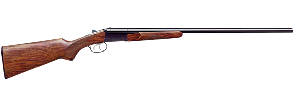 "Picture of Stoeger Industries IGA Uplander Field Side-by-Side Shotgun - 20Ga, 3"", 26"", Blued, A-Grade Satin Walnut Stock, Brass Bead Front Sight, (IC,M), Double Trigger"