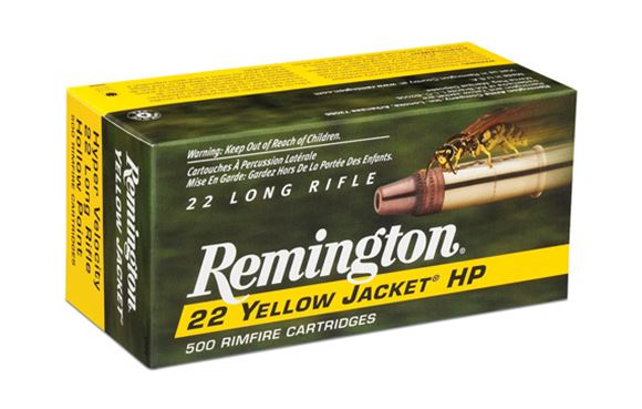 Picture of Remington Yellow Jacket Rimfire Ammo - Hyper Velocity, 22 LR, 33Gr, TCHP, 50rds Box