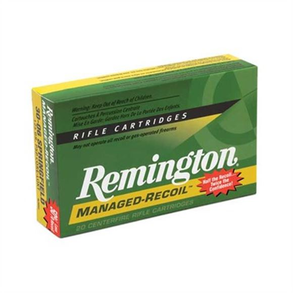 "Picture of Remington Slugs, Slugger Managed-Recoil Rifled Slugs Shotgun Ammo - 12Ga, 2-3/4"", 3 DE, 1oz, RS, 100rds Case, 1200fps"