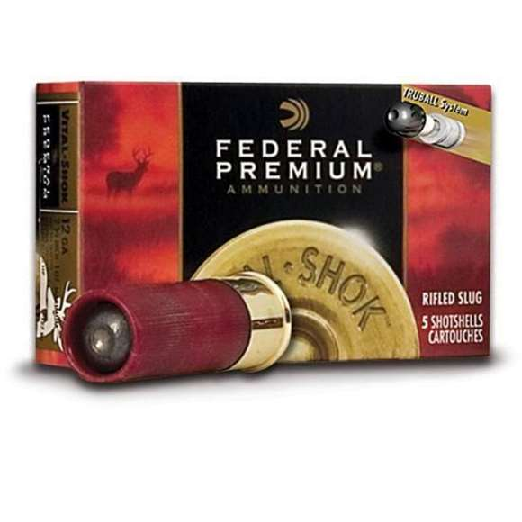"Picture of Federal Premium Vital-Shok TruBall Shotgun Ammo - 12Ga, 2-3/4"", 1oz, TruBall Rifled Slug, 1600fps, 50rds Brick"