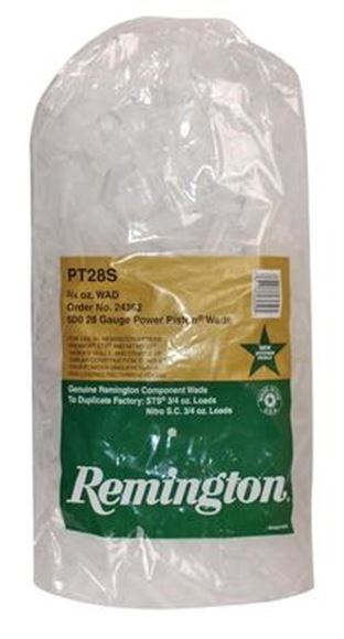 Picture of Remington Shotshell Components, Shotshell Wads - Target Load Power Piston One-Piece Wads, 28Ga, 3/4oz, 500ct Bag