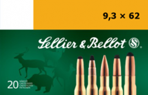Picture of Sellier & Bellot Rifle Ammo - 9.3x62mm, 285Gr, SP, 20rds Box
