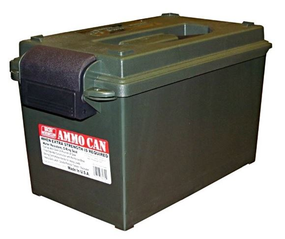 "Picture of MTM Case-Gard Ammo Cans & Crates, Ammo Can - AC11 Ammo Can, 7.5""(L)x13""(W)x7.25""(H) / 8.7""(L)x15.5""(W)x9""(H), Forest Green"