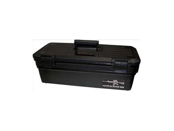 "Picture of MTM Case-Gard Shooting Range Boxes, Tactical Range Box - 24.6""(L) x 11.3""(W) x 8.3""(H), Black"