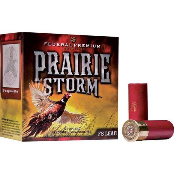 "Picture of Federal Premium Prairie Storm FS Lead Load Shotgun Ammo - 12Ga, 2-3/4"", 1-1/4oz, 4.46 DE, #5, 25rds Box, 1500fps"