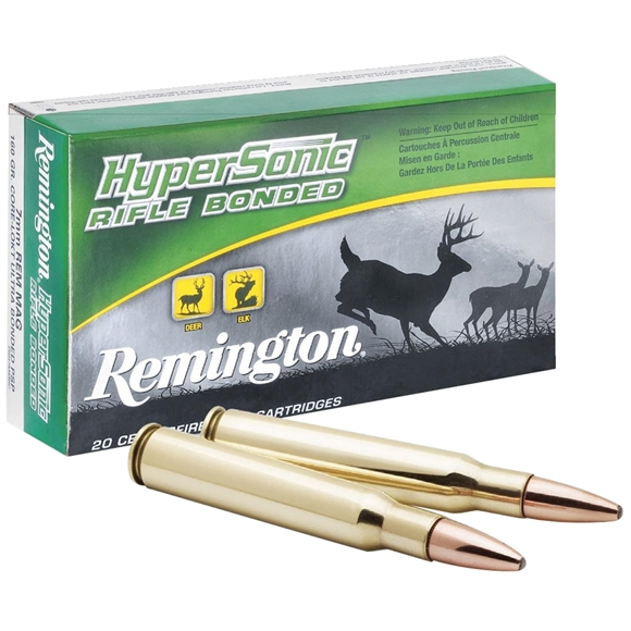 Picture of Remington Hyper Sonic Centerfire Rifle Ammo - 7mm Rem Mag, 160Gr, HyperSonic Centerfire Core-Lokt Ultra Bonded PSP, 20rds Box, 3002fps