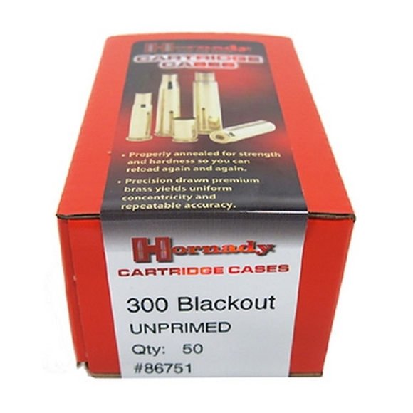 Picture of Hornady Unprimed Cases - 300 Blackout, 50ct Box