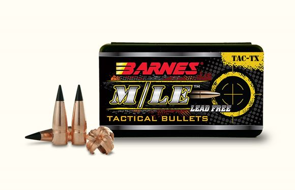 """Picture of Barnes TAC-TX M/LE Rifle Bullets - 30 Caliber (.308""""), 168Gr, TAC-TX BT, 50ct Box, 1:11"""" or Faster"""