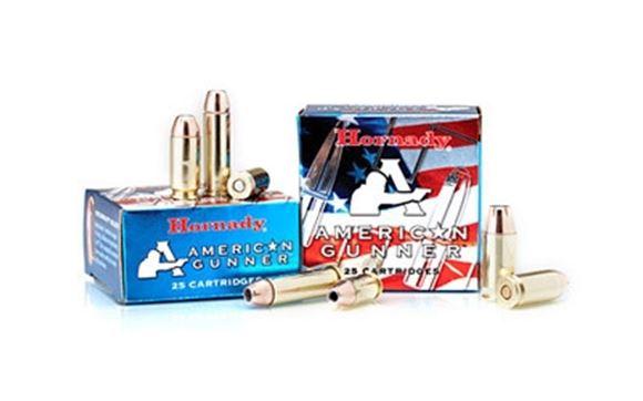 Picture of Hornady American Gunner Handgun Ammo - 9mm Luger, 115Gr, XTP American Gunner, 25rds Box