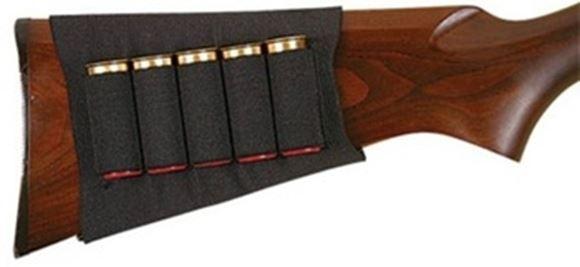 Picture of Allen Shooting Accessories, Shell Holders - Basic Buttstock Shell Holder, Fits Shotgun, 5 Cartridges