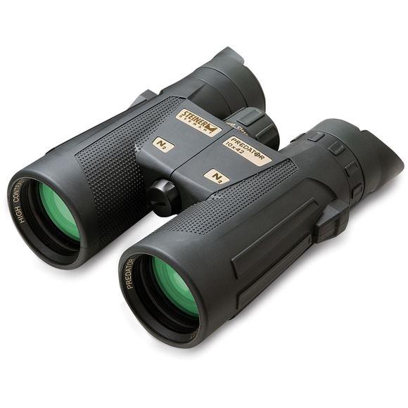 Picture of Steiner Hunting Binoculars, Predator Series - 10x42mm, Fast-Close-Focus, CAT Color Adjustable Transmission Coatings, Waterproof Submersion to 3 ft, Black