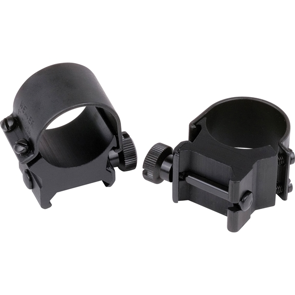 """Picture of Weaver Rings, Detachable Top Mount, Detachable Top Mount Rings (Standard Version) - 1"""", High, Matte"""
