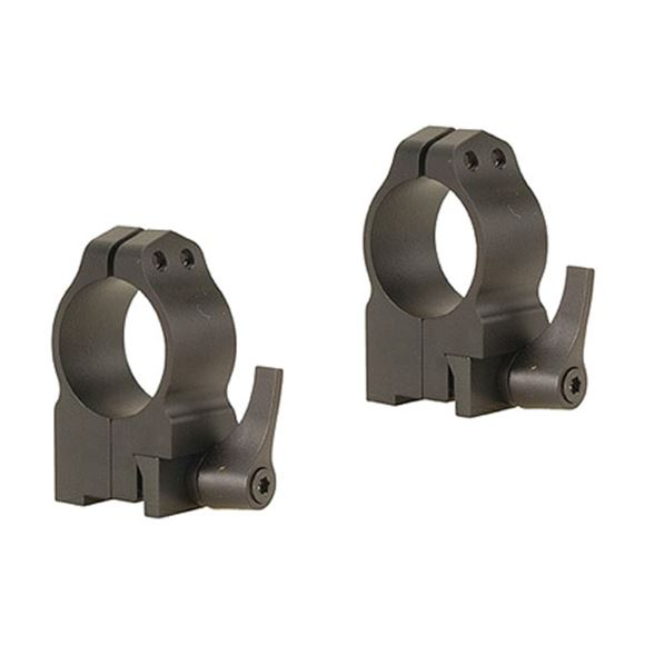 """Picture of Warne Scope Mounts Rings, CZ - For CZ 550 (19mm Dovetail), 1"""", Quick Detach, Medium, Matte"""