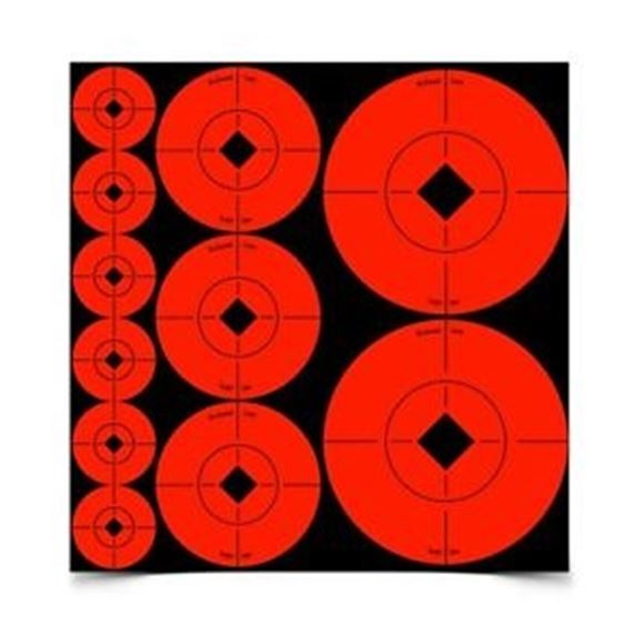 """Picture of Birchwood Casey Targets, Target Spots Targets - Target Spots Ass't 1"""",2"""",3"""" Spot, 110 Targets"""