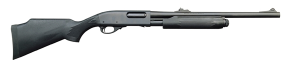 """Picture of Remington Model 870 Express Synthetic Deer Pump Action Shotgun - 12Ga, 3"""", 20"""", Rifled, Matte Black, Matte Black Monte Carlo Synthetic Stock, 4rds, Adjustable Rifle Sights"""