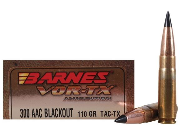 Picture of Barnes VOR-TX Premium Hunting Rifle Ammo - 300 AAC Blackout, 110Gr, TAC-TX, 200rds Case