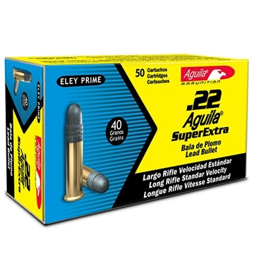 Picture of Aguila Rimfire Ammo - 22 LR, 40Gr, Lead, 50rds Box, Standard Velocity, 1130fps