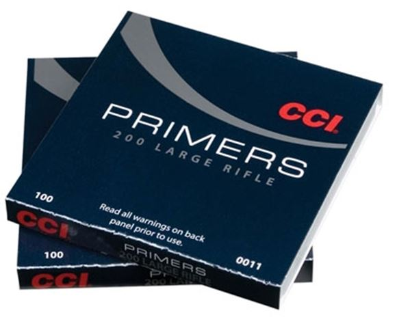 Picture of CCI Primers, Standard Rifle Primers - No. 200, Large Rifle Primers, 1000ct Brick