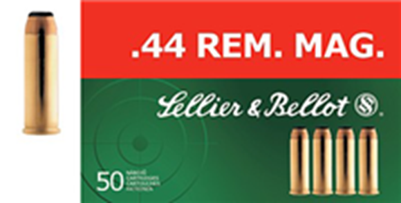 Picture of Sellier & Bellot Pistol & Revolver Ammo - 44 Rem Mag, 240Gr, SP, 50rds Box