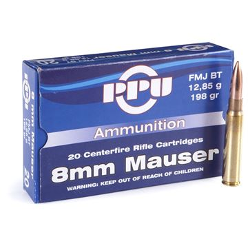 Picture of Prvi Partizan (PPU) Rifle Ammo - 8mm Mauser (8x57mm), 198Gr, FMJ BT, 20rds Box