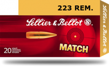 Picture of Sellier & Bellot Target (Match) Rifle Ammo - 223 Rem, 69Gr, HPBT, 20rds Box