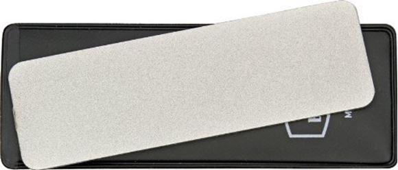"Picture of Buck Sharpeners - EdgeTek Dual Flat Pocket Stone, 100% Diamond Coated Surface, 325 Coarse/750 Medium Grit, 4"" x 1-1/4"", Black Vinyl Sheath, Box"