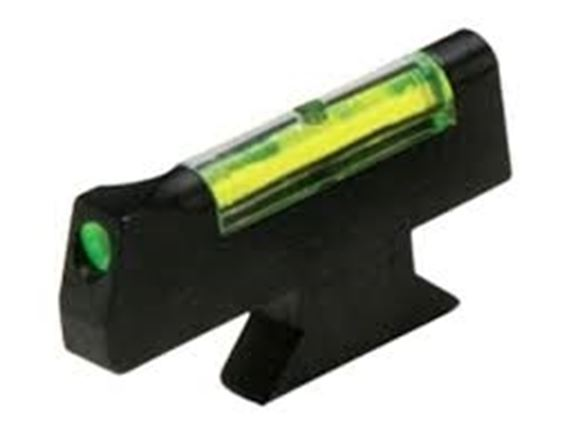 """Picture of HiViz Handgun Sights, Smith & Wesson, Front Sights - Fiber Optic Front Revolver Sight, Green, For Any S&W Models w/Interchangeable Front Sight, Installed Height .310"""""""