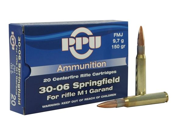 Picture of Prvi Partizan (PPU) Rifle Ammo - 30-06 Sprg (For M1 Garand), 150Gr, FMJ, 20rds Box