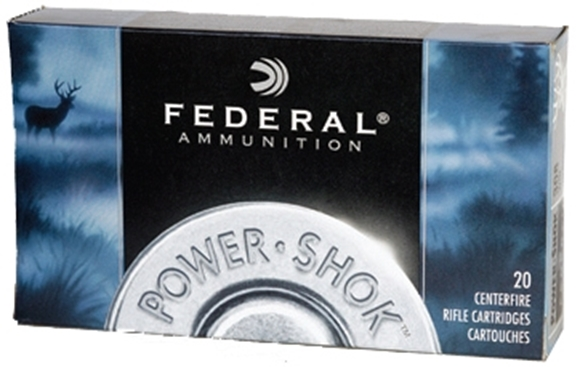 Picture of Federal Power-Shok Rifle Ammo - 7.62x39mm Soviet, 123Gr, Soft Point, 200rds Case