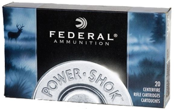 Picture of Federal Power-Shok Rifle Ammo - 7.62x39mm Soviet, 123Gr, Soft Point, 20rds Box