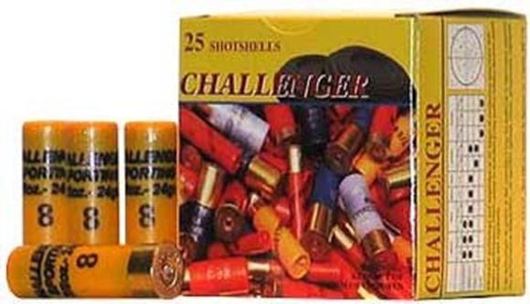 """Picture of Challenger Target Loads Shotgun Ammo - Target, 20Ga, 2-3/4"""", 7/8oz, #7-1/2, 250rds Case, 1200fps"""
