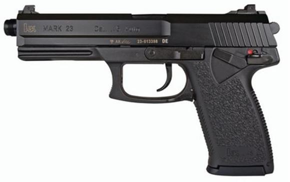 "Picture of Heckler & Koch (H&K) Mark 23 Socom DA/SA Semi-Auto Pistol - 45 ACP, 5.87"", Blued, Fiber-Reinforced Polymer Grip Frame, 2x10rds, Fixed Sights"