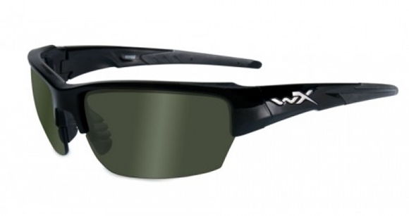 Picture of Wiley X Changeable Series - WX Saint, Pol Green Lens, Gloss Black Frame