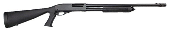 """Picture of Remington Model 870 Express Tactical Pump Action Shotgun - 12Ga, 3"""", 18-1/2"""", Matte Black, SpeedFeed IV """"Pistol-Grip"""" Style Stock, 4rds, Bead Front Sight, Rem Choke (Tactical Extended/Ported)"""