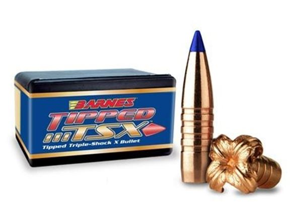 "Picture of Barnes TTSX (Tipped Triple-Shock X) Hunting Rifle Bullets - 30 Caliber (.308""), 165Gr, Tipped TSX BT, 50ct Box"
