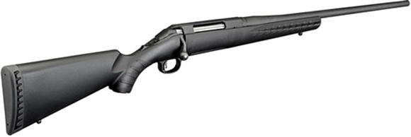 "Picture of Ruger American Standard Bolt Action Rifle - 223 Rem, 22"", Matte Black, Alloy Steel, Black Composite Stock, 5rds"