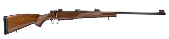 "Picture of CZ 550 Magnum Lux Bolt Action Rifle - 458 Win Mag, 635mm (25""), Hammer Forged, Blued, Lacquered Walnut Stock w/Cheekpiece, 4rds, Express Sights, Single Set Trigger"