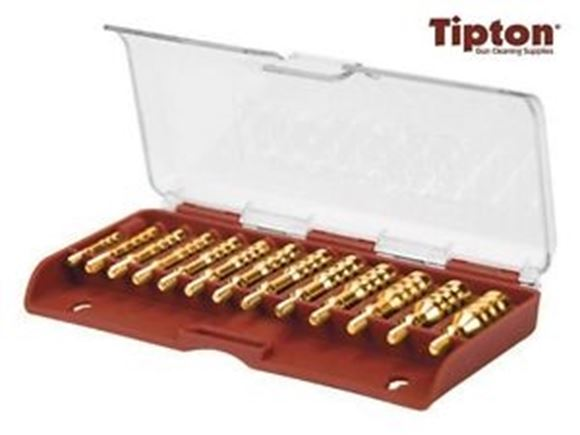 Picture of Tipton Gun Cleaning Supplies Jags & Bore Brushes - 13 Piece Solid Brass Jag Set