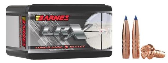 "Picture of Barnes LRX (Long-Range X) Hunting Rifle Bullets - 30 Caliber (.308""), 175Gr, LRX BT, 50ct Box, (1:11"" Twist of Faster)"